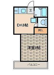 メゾネット泉[1階]の間取り