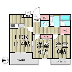 Ruscello Kamakura[302号室]の間取り