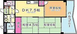 プレアール赤坂[4階]の間取り