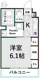 東京メトロ丸ノ内線 新高円寺駅 徒歩5分の賃貸アパート 1階1Kの間取り