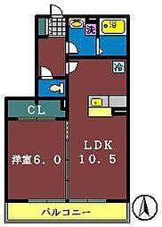 ソレイユ(東船橋)[1階]の間取り