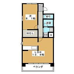 IL ROSSO堀川六角[14階]の間取り