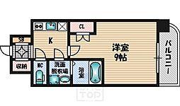 WGB江坂[9階]の間取り