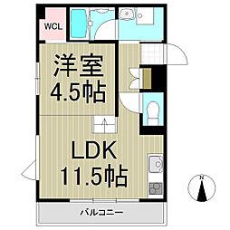 L'Escalier Kamakura[101号室]の間取り