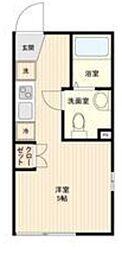 LiveFlat中野鷺宮 2階ワンルームの間取り