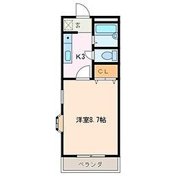 フロール[2階]の間取り