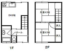 古賀アパート[1階]の間取り