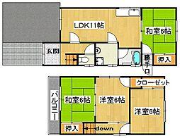 [一戸建] 大阪府大東市野崎2丁目 の賃貸【/】の間取り