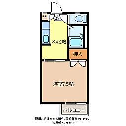 エステートAYA B棟[2階]の間取り