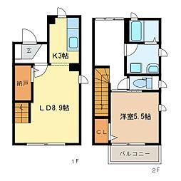 サンメゾンIIA棟[2階]の間取り