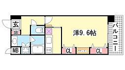 KAISEI新神戸第2WEST[8階]の間取り