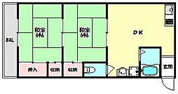兵庫県神戸市長田区鶯町3丁目の賃貸アパートの間取り