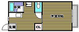 サニーハイツスタニ[1階]の間取り