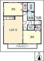 ウィルモア21 B棟[2階]の間取り
