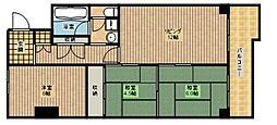 ミリカハイツ[4階]の間取り