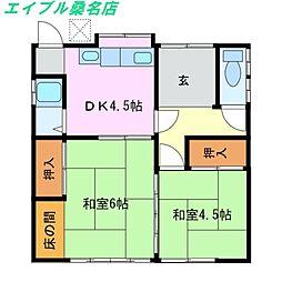 [一戸建] 三重県桑名市大字西汰上 の賃貸【/】の間取り