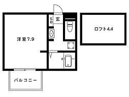 阪神本線 魚崎駅 2階建[n-101号室]の間取り