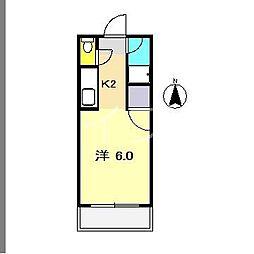 パークハイツ相模[2階]の間取り