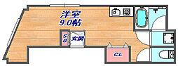 兵庫県神戸市灘区水道筋1丁目の賃貸マンションの間取り