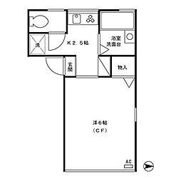 パールハイツIII[1階]の間取り