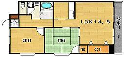 ARCADIA EAST[2階]の間取り