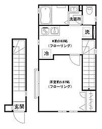 シャルム桜台[2階]の間取り