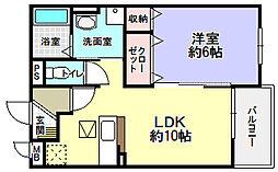 コンフォート隅田口[1階]の間取り