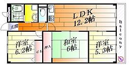 キャッスル・クイーン[3階]の間取り