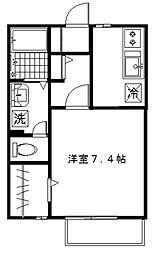 神奈川県小田原市城山1丁目の賃貸アパートの間取り