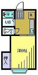 梅屋敷ハイツ[203kk号室]の間取り