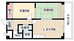 愛知県名古屋市瑞穂区甲山町1丁目の賃貸マンションの間取り