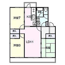キャストロ鎌ヶ谷[2階]の間取り