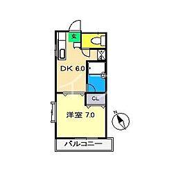 ラ・トゥール[3階]の間取り