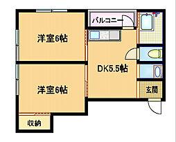 第二テラダマンション[3階]の間取り