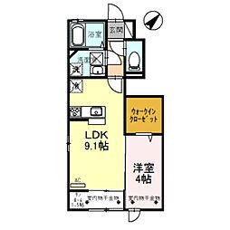 D-roomエンゼル[107号室]の間取り