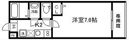 フラッティ四条大宮II[203号室]の間取り