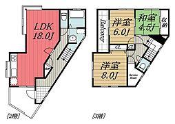 [一戸建] 千葉県千葉市若葉区桜木8丁目 の賃貸【/】の間取り