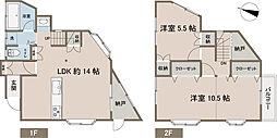 [一戸建] 神奈川県横須賀市武4丁目 の賃貸【/】の間取り