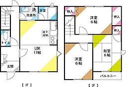 [テラスハウス] 埼玉県さいたま市見沼区南中丸 の賃貸【/】の間取り