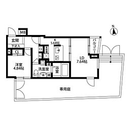 ビバリーホームズ五反田[107号室]の間取り