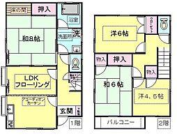 [一戸建] 神奈川県川崎市川崎区下並木 の賃貸【/】の間取り