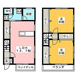 [テラスハウス] 栃木県宇都宮市陽東2丁目 の賃貸【/】の間取り