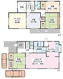[一戸建] 千葉県浦安市美浜4丁目 の賃貸【/】の間取り