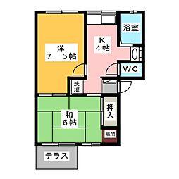 モンルポ[1階]の間取り