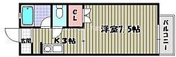 JR宇野線 宇野駅 徒歩4分の賃貸アパート 1階1Kの間取り