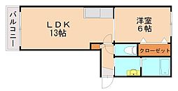 APRICOT GARDEN[1階]の間取り