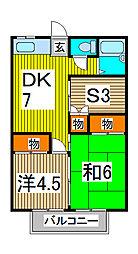 ハイム大京[2階]の間取り