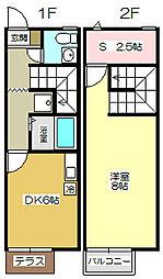 [テラスハウス] 福岡県北九州市小倉南区南方4丁目 の賃貸【/】の間取り