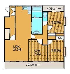 相模大野ロイヤルマンション[4階]の間取り