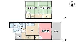 [一戸建] 京都府京都市山科区西野山中臣町 の賃貸【/】の間取り